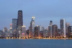 Chicago skyline from North Avenue
