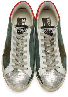 fb05621d9967c6 Golden Goose - Green Suede Superstar Sneakers Green Suede