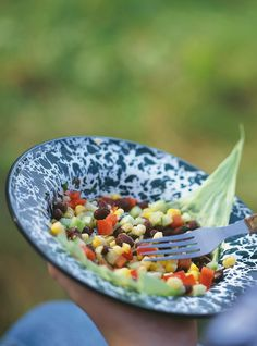 Recette de Ricardo de Salade de maïs et de haricots noirs