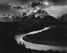 Another Ansel Adams classic -  Grand Tetons and the Snake River - 1942