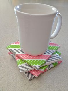 Washi Tape Gifts / Regalos Washi Tape Coasters  Now this would bea great gift for teachers and seal it with modge podge glue