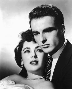 """Elizabeth Taylor y Montgomery Clift en """"Un Lugar en el Sol"""" (A place in the Sun), 1951"""