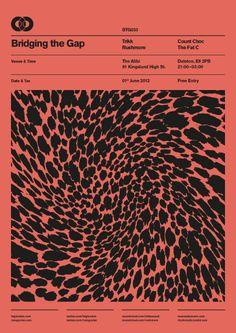 BTG Poster Series on Behance grafisch kaft boek magazine layout titel