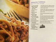 Fettuccine Calabrese