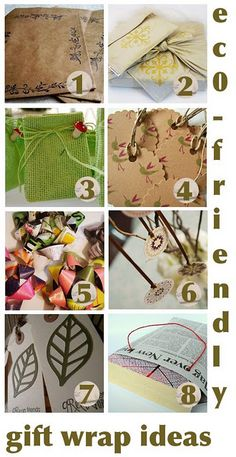 #Eco-Friendly Gift Wrap #Ideas