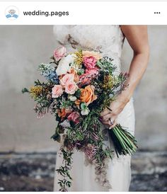 Springs bounty bridal bouquet inspiration