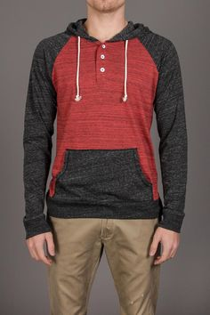 Threads 4 Thought Color Block Henley Hoodie