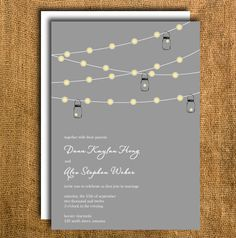 Printable Wedding Invitation & Reply Card by PrettyMyParty on Etsy, $35.00