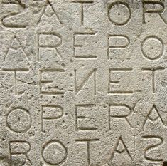 "Palindrome found in Pompeii ""Sator Arepo tenet opera rotas"" Ancient Aliens, Ancient Rome, Ancient History, Ancient Greek, Pompeii Ruins, Pompeii And Herculaneum, Art Romain, Magic Squares, Poetry Month"