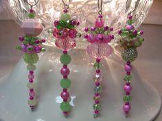 Pink Christmas Dangle Ornaments
