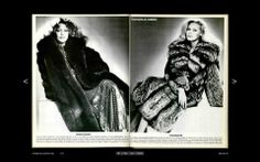 retro fur coat ads