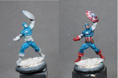 Painting tutorial for Captain America