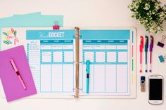 Planning Printables Set Daily Planner Weekly by SuperSweetLife, $16.00