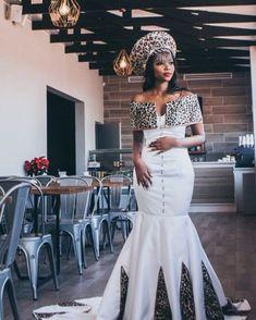New Zulu bride African traditional dress 2020 - querephroe. Zulu Traditional Attire, South African Traditional Dresses, Traditional Dresses Designs, Traditional Wedding Attire, Latest African Fashion Dresses, African Print Dresses, African Dress, African Wedding Attire, African Attire