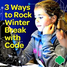 3 Ways to Rock Winter Break with Code- 3 Ways to Rock Winter Break with Code Did you wake up wondering how to spend your winter break with your children? Well we& got the answer for you! Check out three ways to ROCK out the winter break this season! Winter Activities, Stem Activities, Stem Projects For Kids, Girl Scout Badges, Math Stem, Daisy Girl Scouts, Coding For Kids, Third Way, Science For Kids