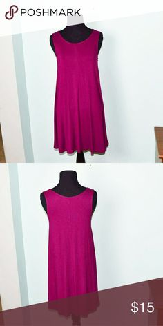 Adorable Magenta Colored Shift Dress In excellent condition! Beautifully made and very flattering! Super soft, stretchy, and flowy! Very trendy and perfect for spring as well! Buy 3 items and get 1 free plus 15% off your purchase total! Dresses Midi