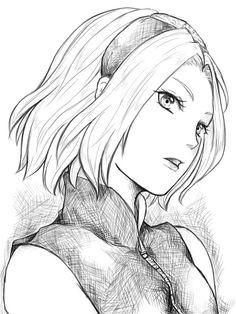 naruto, anime, and sakura image Naruto Uzumaki, Anime Naruto, Naruto Sketch, Naruto Drawings, Naruto Fan Art, Anime Drawings Sketches, Sakura And Sasuke, Sakura Haruno, Anime Sketch