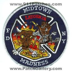 New York City Fire Department Engine 1 Ladder 24 Patch New York NY