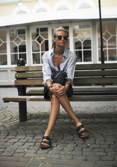 33 Ideas how to wear birkenstock sandals summer casual for 2019 sandals outfit 33 Ideas how to wear birkenstock sandals summer casual for 2019 Birkenstock Outfit, Estilo Birkenstock, Birkenstock Arizona, Birkenstock Fashion, Fast Fashion, Womens Fashion, Fashion Trends, Style Fashion, Mode Style