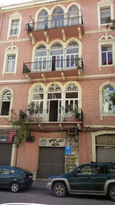 Beirut, Lebanon — by Morag Gardner. There are many elegant building with balconies throughout Beirut. This one is in the Mar Mikhael area.