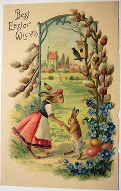 postcard.quenalbertini: Vintage Easter Postcard