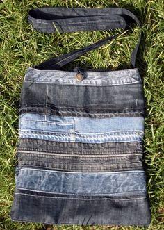 Bag - Jeansrecycling:  http://de.dawanda.com/product/32645965-Umhaengetasche-Serie-Johnny