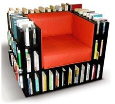 chair bookshelf - now here is a chair for your favorite book worm!