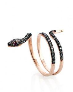 14K Rose Gold Snake Ring