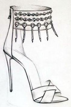 Commence Freak-Out Now: Cult-Favorite Jewelry Brand Dannijo Is Coming Out with Shoes! Commence Freak-Out Now: Cult-Favorite Jewelry Brand Dannijo Is Coming Out with Shoes!,If the Shoe Fits Commence Freak-Out Now: Cult-Favorite Jewelry Brand Dannijo. Shoe Sketches, Dress Design Sketches, Fashion Design Sketchbook, Fashion Design Drawings, Fashion Sketches, Drawing Sketches, Art Drawings, Fashion Illustration Shoes, Illustration Mode