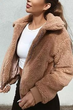 Women Warm Pocket Jacket Coat Outwear Overcoat Winter Jacket Female Coat Elegant - #coatsforwomen #coatsforwomenwinter #coatsforwomencasual #coatsforwomenclassy #coatsforwomenclassyelegant #coatsjackets #coatsjacketswomen #coatsforwomen2020 #coatsforwomen2020fashiontrends #streettide Coats For Women, Jackets For Women, Camel Coat Outfit, 2020 Fashion Trends, Wool Coat, Trendy Outfits, Casual, Winter Jackets, Pullover