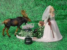 Camo Hunting | Elk Hunting Bride Camo Grooms Humor Fun Sport Wedding Cake Topper-BG2 ...
