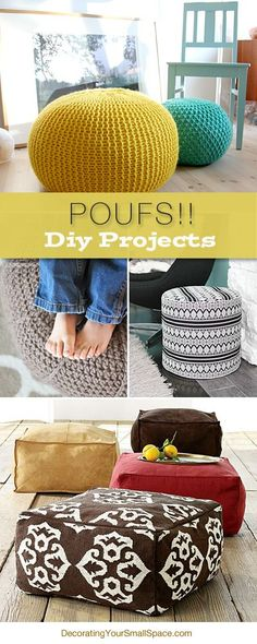 Poufs!! DIY Projects | Pinning For Living