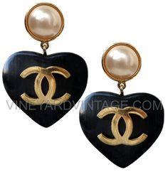 VineyardVintage.com - CHANEL FAMOUS WOOD HEART EARRINGS as seen on Kris Kardashian, $2,950.00 (http://www.vineyardvintage.com/chanel-famous-wood-heart-earrings-as-seen-on-kris-kardashian/)
