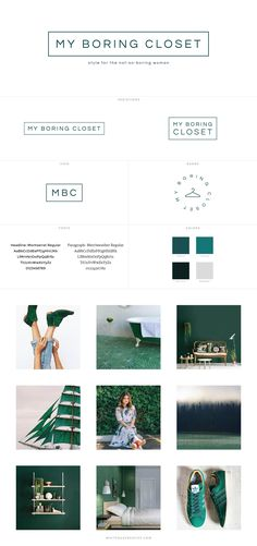 My Boring Closet Style Blog Design - logo design, wordpress theme, mood board inspiration, blog design idea, graphic design, branding, style blog, fashion