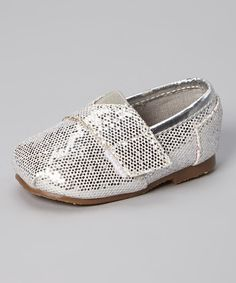 Love this Xeyes Silver Metallic Slip-On Shoe by Xeyes on #zulily! #zulilyfinds