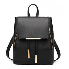 Faux Leather Backpack (2,110 PHP) ❤ liked on Polyvore featuring bags, backpacks, backpack, borse, faux leather backpack, day pack backpack, rucksack bag, vegan bags and vegan leather backpack