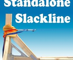 how to set up slackline without trees