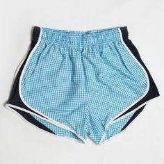 Lauren James Turquoise/Navy Gingham Shorties . Get them here! #laurenjames