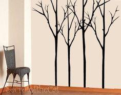 Vinyl Decal  Wall Sticker  tree Decal  Winter by secretofthecat, $80.00