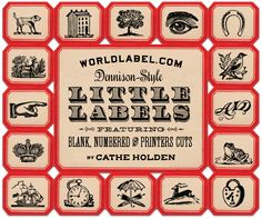 Free vintage Dennison-Style-Labels - Mini for all you organizing needs