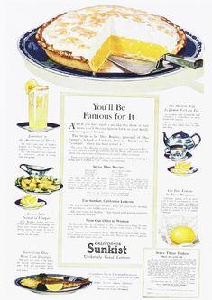 Sunkist Lemons Ad (1920s)