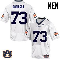 735bffbff Men Auburn Tigers  73 Greg Robinson College Football Jerseys Sale-White  Brown College