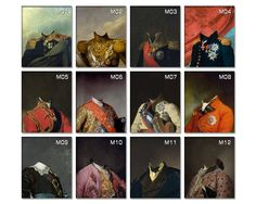 New male templates are now available for your royal pet portraits! Check item's photos for more...