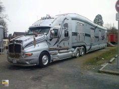 Custom Big Rigs, Custom Trucks, Big Rig Trucks, Cool Trucks, Semi Trucks, Cool Rvs, Luxury Motorhomes, Luxury Rv, Kenworth Trucks