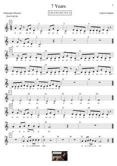 7 Years - Lukas Graham - Partitura para flauta CL