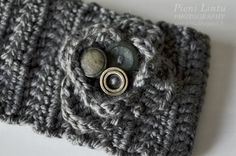 Pieni Lintu: Headband with vintage buttons