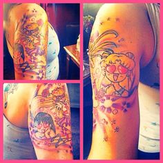Awesome sailor moon tattoos