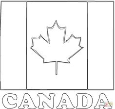 Flag-of-Canada-coloring-page.jpg (1200×1129)