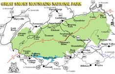 great smoky mountains national park hiking trails map | GreatSmokyMountainsNational Park Maps