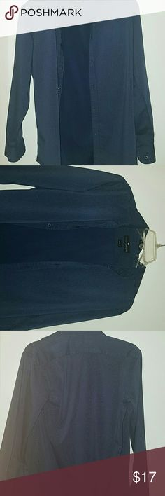 Men dress shirt Used dress shirt, it is discolored (not completely  but it is but still in wearable conditions. Shirts Tees - Long Sleeve